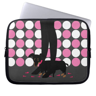 Girls' Night Out Dachshund Laptop Sleeve