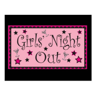 Girls Night Out: Invite Postcard