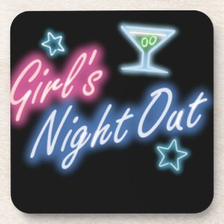 Girl's Night Out Party Pattern Coasters