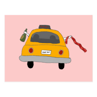 Girls' Night Out Taxi Postcard