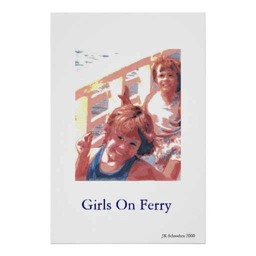 Girls On Ferry Posters