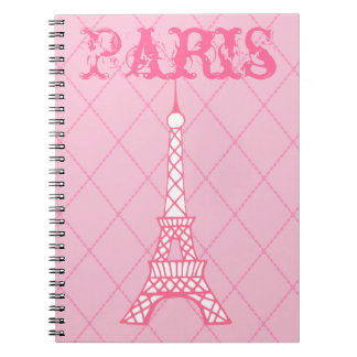 Girl's Paris Eiffel Tower School  Notebook Gift