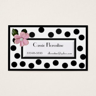 Girl's Paris high fashion calling Card