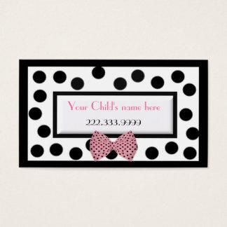 Girl's Paris high fashion calling card