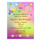 Girls Pastel Tie Dye Groovy Birthday Party Card