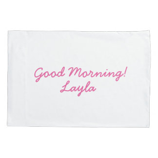 Girls personalized pillowcase