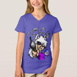 Girl's 'Pierce the Standard' V-Neck T-Shirt