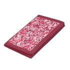 Girls Pink Camouflage Pattern Tri Fold Wallet