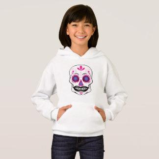Girls Pink Candy Skull Hoodie
