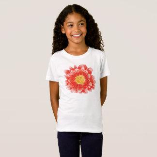 Girl's Pink Chyrsanthemum Flower T-Shirt