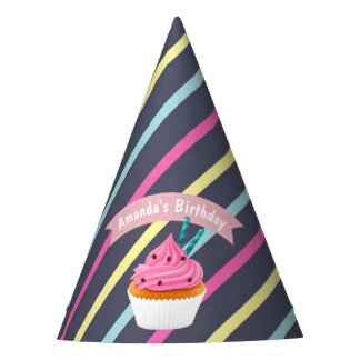 Girl's Pink Cupcake Wars Baking Birthday Party Party Hat