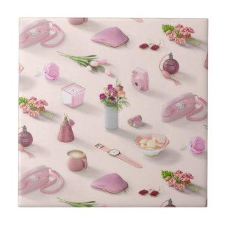 Girl's Pink Dream Ceramic Tile