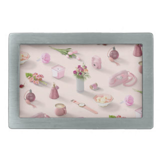 Girl's Pink Dream Rectangular Belt Buckles