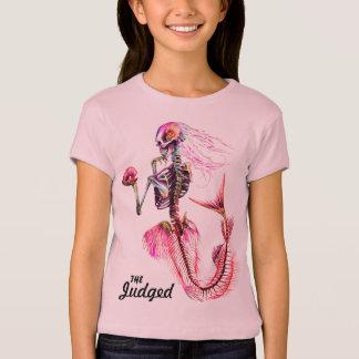 Girls Pink Mermaid  Skeleton T-Shirt