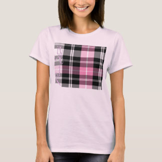 Girls Pink Pure Style Plaid Top