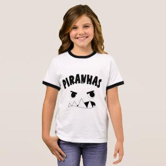 Girls piranhas face ringer T-Shirt