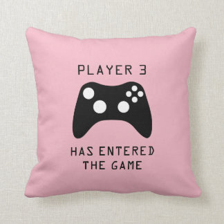 Girls Player 3 Has Entered the Game Video Game Throw Pillow