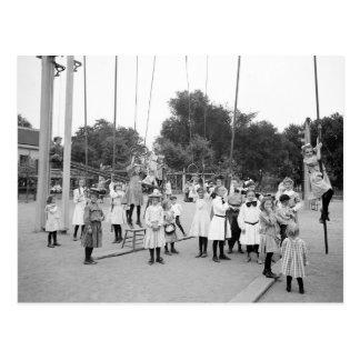 Girls Playground, 1905 Postcard