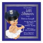Girls Police Baby Shower Invitations