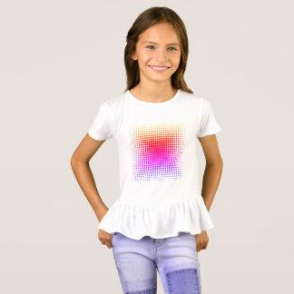 Girls Polka Dot Pretty short sleeve ruffle hem top