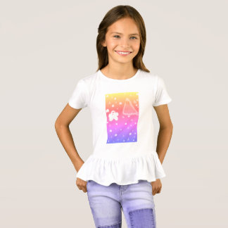 Girls Popcorn Vs Nacho Ruffle T-shirt