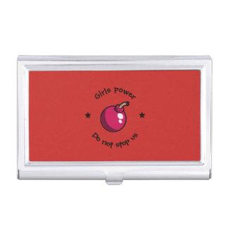 Girls power business card holder