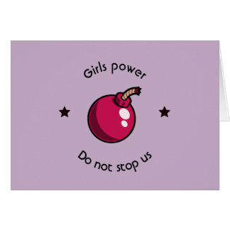 Girls power card