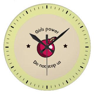 Girls power large clock