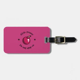 Girls power luggage tag