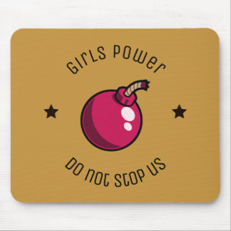 Girls power mouse pad