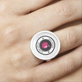 Girls power photo ring