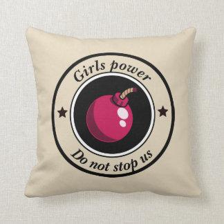 Girls power throw pillow