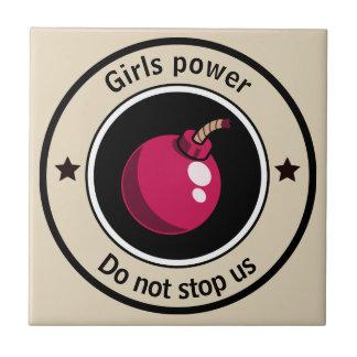 Girls power tile