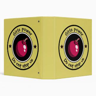 Girls power vinyl binders