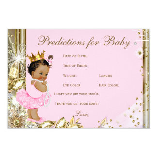 Girls Predictions & Advice for Parents Baby Shower Card