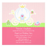 Girl's princess birthday party carriage invitation