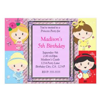 Girls Princess Party Birthday Invitation