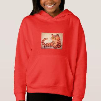 GIRLS' PULLOVER HOODIE - GOLDEN CAT