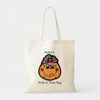 Girl's Pumpkin Trick or Treat Bag