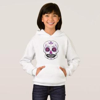 Girls Purple Candy Skull Hoodie