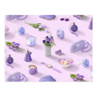 Girl's Purple Dream Postcard