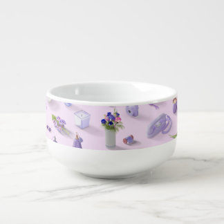 Girl's Purple Dream Soup Bowl With Handle