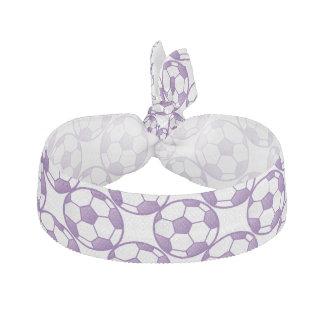 Girls Purple Soccer Balls Hair Tie