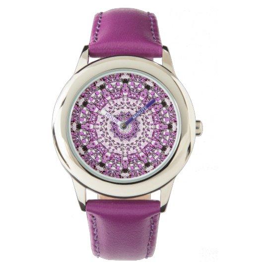 Girl's Purple Sundial Wrist Watches