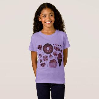 Girls purple tshirt with Donuts
