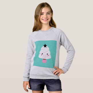 Girls raglan tshirt with Manga tree