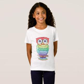 Girls Rainbow Owl T-shirt