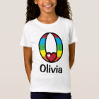 Girls Rainbow Top Rainbow Initial Shirt Monogram O