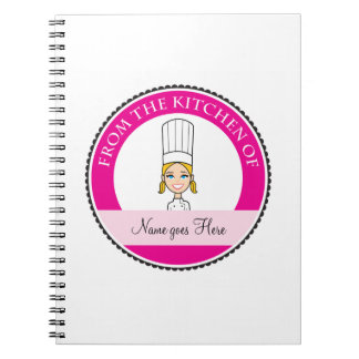 Girl's Recipe Notebook Personalized #1