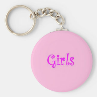 Girls restroom keychain